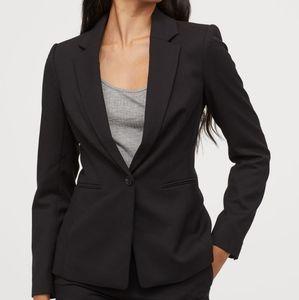 Single button black blazer